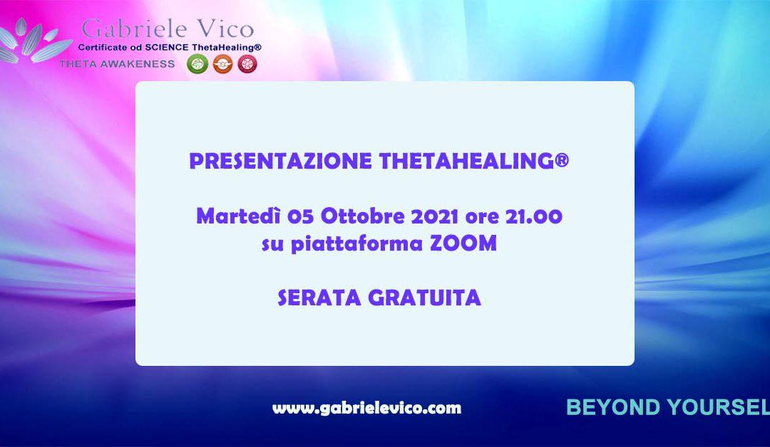 PRESENTAZIONE ThetaHealing® ONLINE